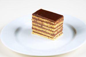 piškótové biele cesto , čokoládový krém, čokoláda, 60 g, 1,20 Eur/ks