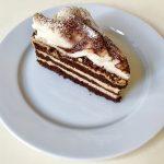 zloženie: kakaový korpus korpus, kávový krém, marcipán, 120 g, 2,70 Eur/ks,
