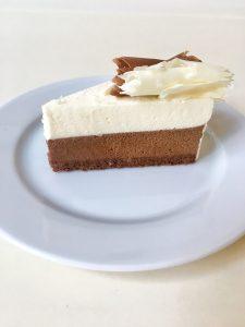 čokoládový plát, krém z bielej a tmavej čokolády, 80 g, 2,30 Eur/ks